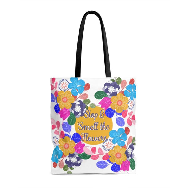 Stop and Smell the Flowers Tote Bag-Bags-famenxt