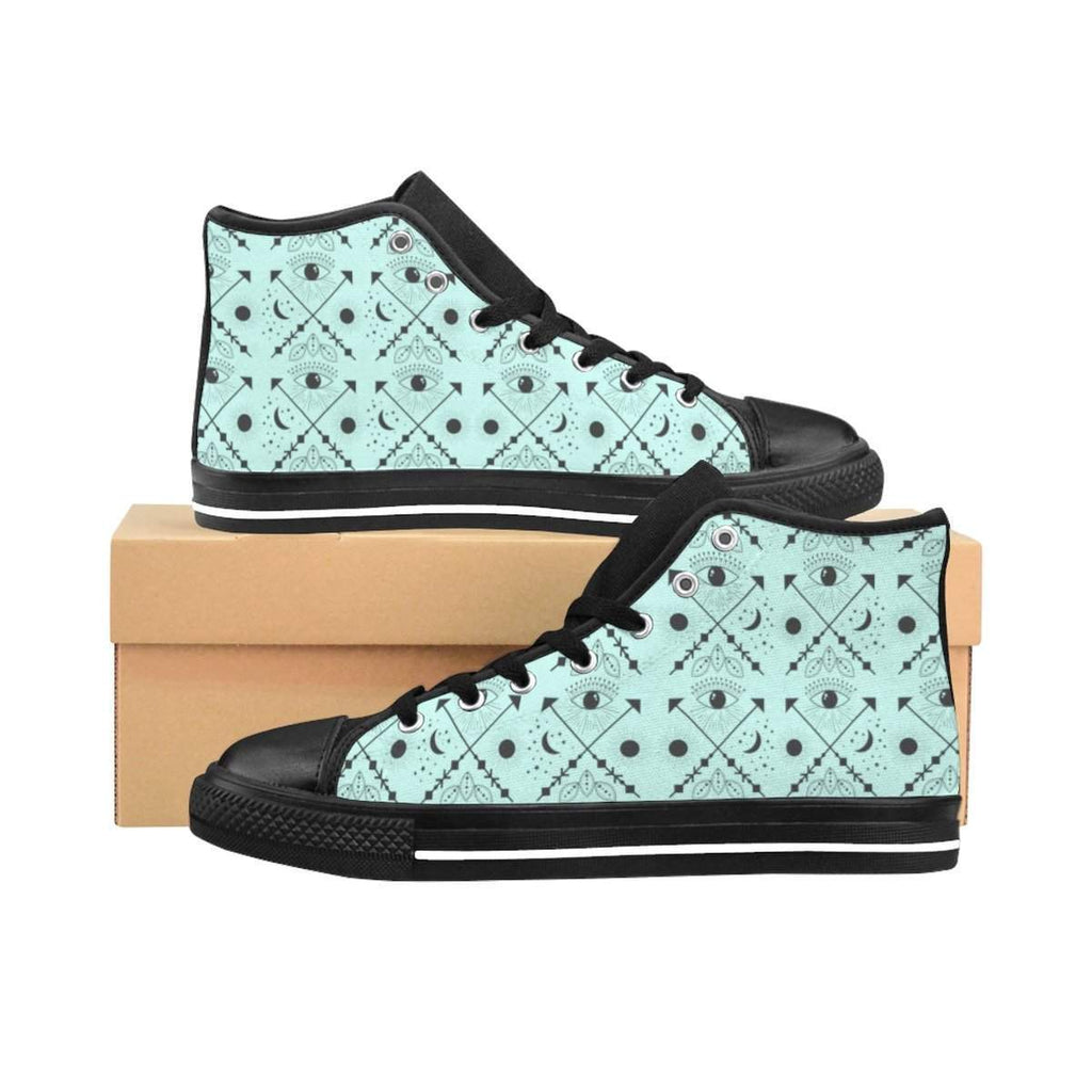 Bohemian Eyes Women's High-top Sneakers-Shoes-famenxt