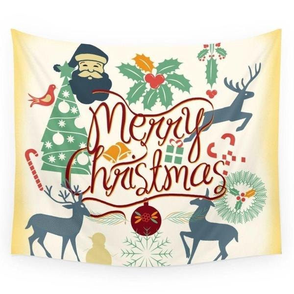 Christmas Joy Love Peace Wall Tapestry-Wall Tapestry-famenxt
