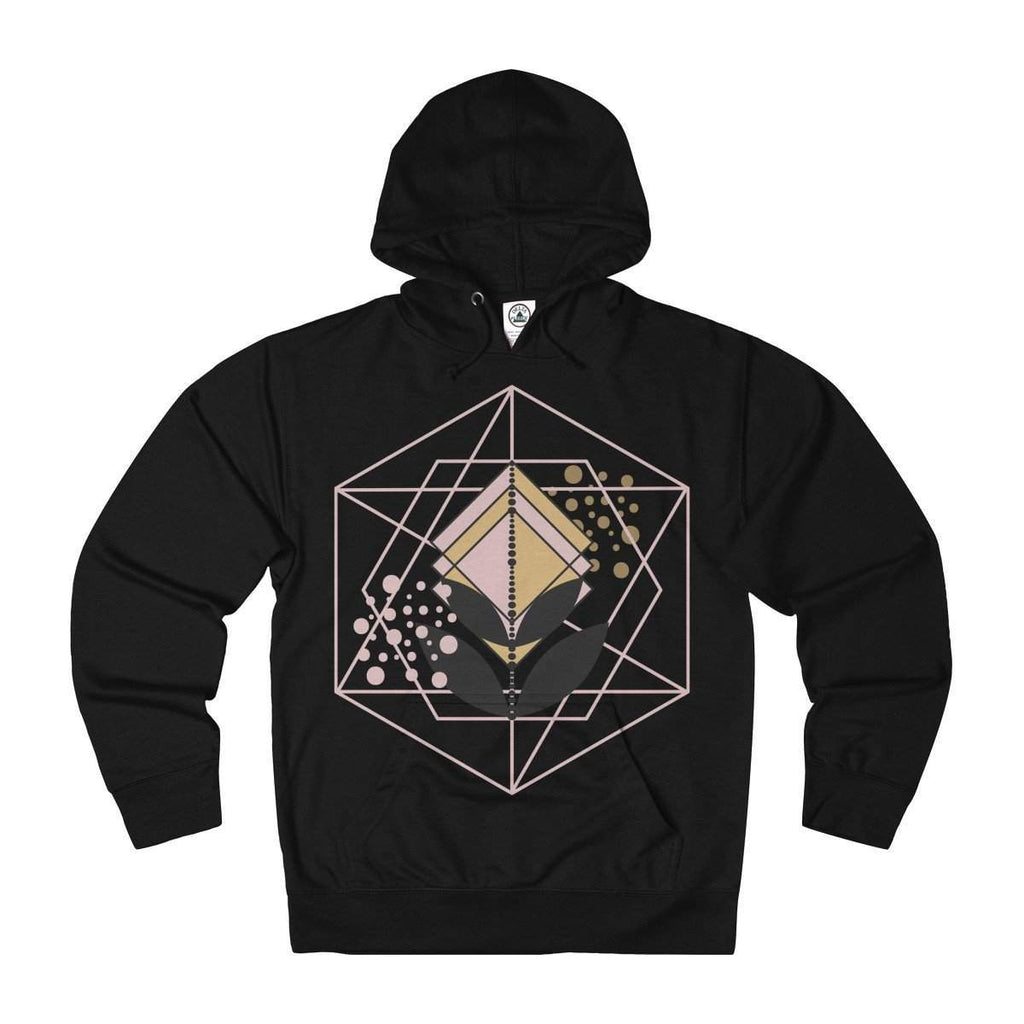 Geometric Shape Rose Gold and Gold Adult Unisex French Terry Hoodie-Hoodie-famenxt