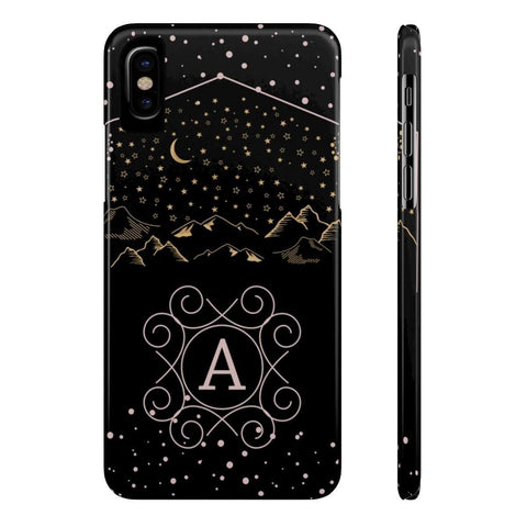 Monogram Collection- Starry Night- Choose your initial A Phone Case - famenxtshop