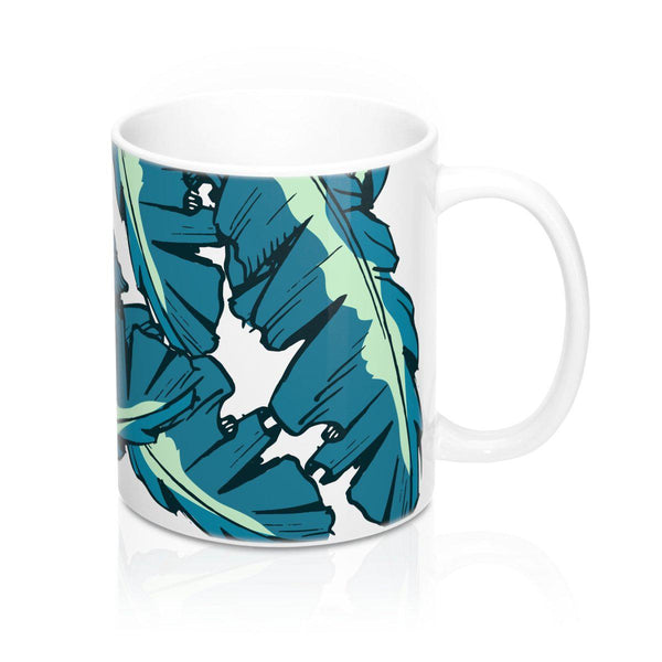 Tropical Banana Leaves Mug 11oz-Mug-famenxt
