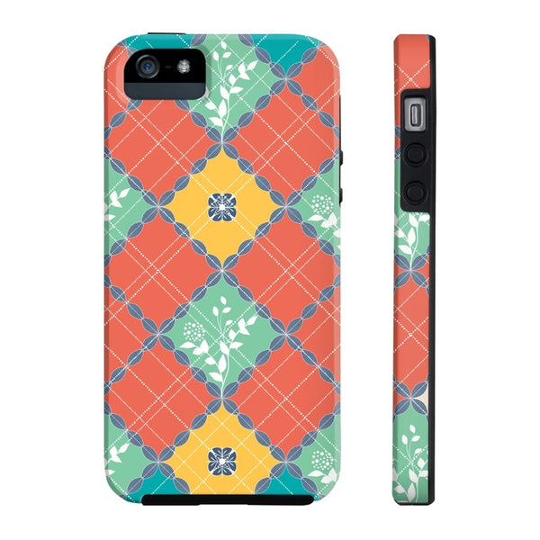 Coral Teal Patterns Tough and Slim Phone cases-Phone Case-famenxt