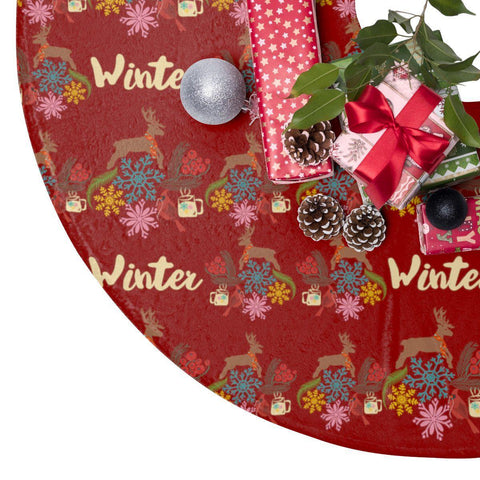 "Holiday Christmas Winter 44"" Christmas Tree Skirt-Home Decor-famenxt"