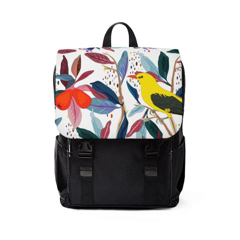 From mybirdparadise Collection Eurasian Golden Oriole Unisex Casual Shoulder Backpack - famenxtshop