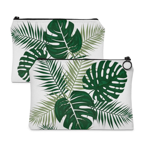 Tropical Leaves Accessory Pouch-accessory pouches-famenxt