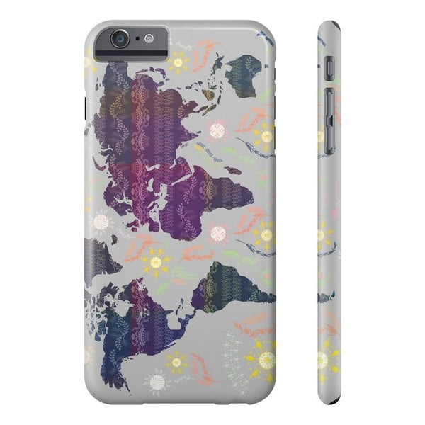 Boho World Map Tough and Slim Phone cases-Phone Case-famenxt