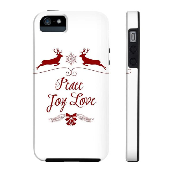 Christmas Love Joy Peace Tough and Slim Phone cases-Phone Case-famenxt