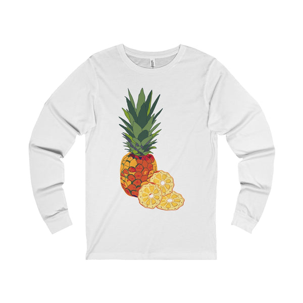 Pineapple and Slice Unisex Jersey Long Sleeve Tee-Long-sleeve-famenxt