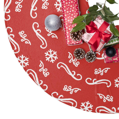 "Red Ornamental 44"" Christmas Tree Skirt-Home Decor-famenxt"