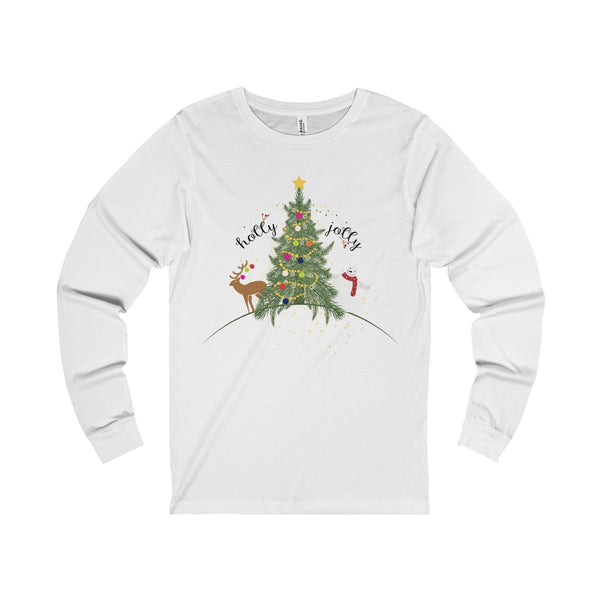 Christmas Holly Jolly Unisex Jersey Long Sleeve Tee-Long-sleeve-famenxt