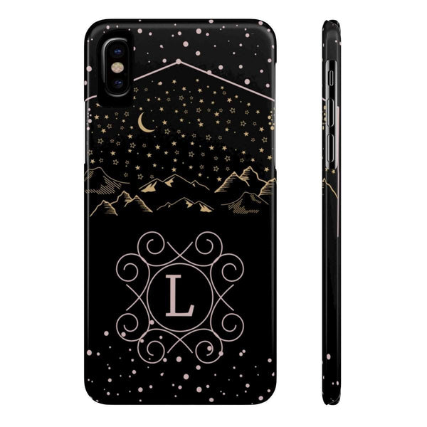 Monogram Collection- Starry Night- Choose your initial L Phone Case-Phone Case-famenxt