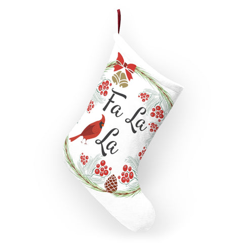 Fa la la Christmas Stocking Double Sided Printed-Home Decor-famenxt