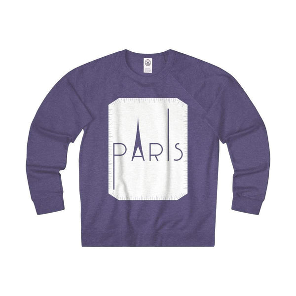 Paris Unisex French Terry Crew-Sweatshirt-famenxt