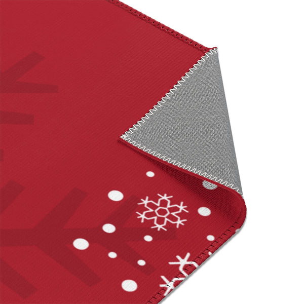 Noel Red Christmas Area Rugs 2x3, 3x5, 4x6-Home Decor-famenxt