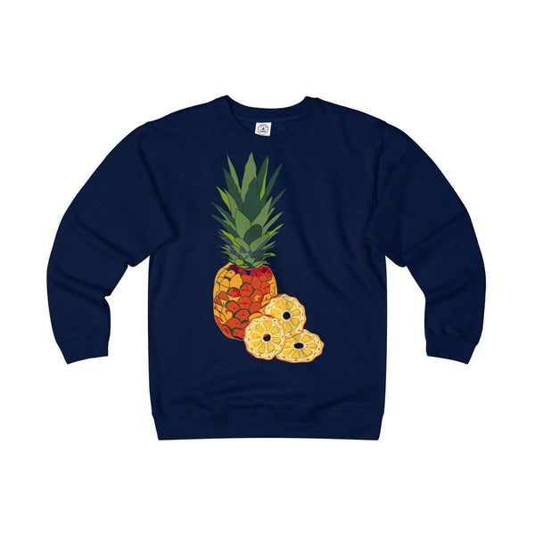 Pineapple Adult Unisex Heavyweight/Lightweight Fleece Crew-Sweatshirt-famenxt
