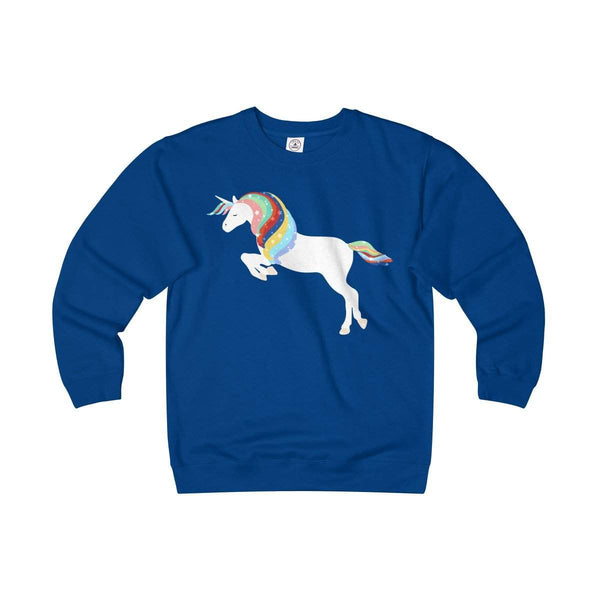 Magic of Unicorn Adult Unisex Heavyweight/Lightweight Fleece Crew-Sweatshirt-famenxt