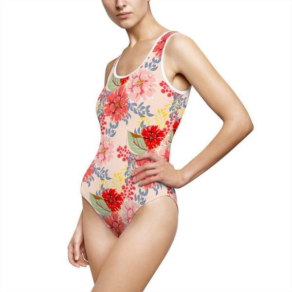 Peonies Women's Classic One-Piece Swimsuit-All Over Prints-famenxt