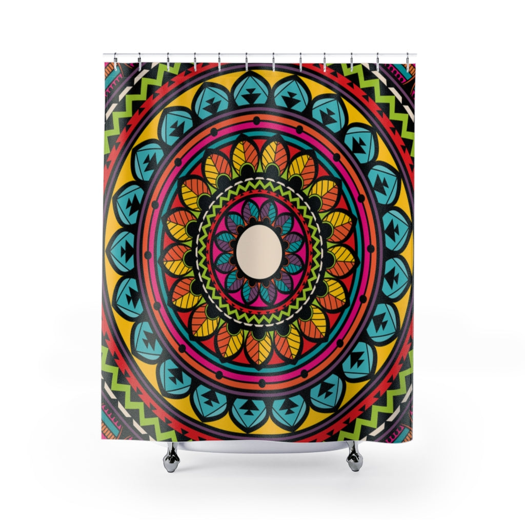 Indian Bohemian Shower Curtain and Bath Mats-Home Decor-famenxt