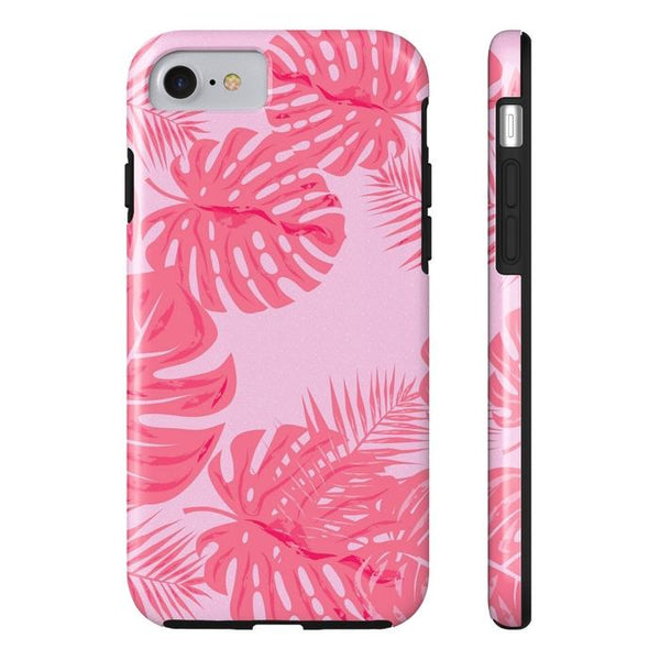 Tropical Flamingo Pink Leaves Tough and Slim Phone cases-Phone Case-famenxt