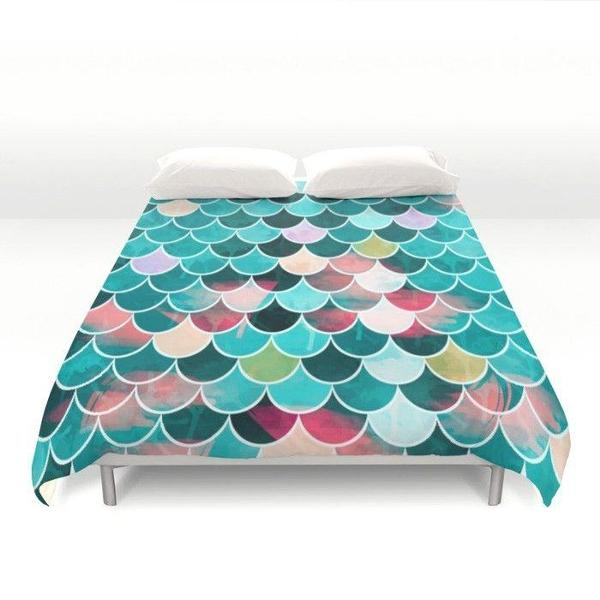 Mermaid Duvet Cover-Duvet Cover-famenxt