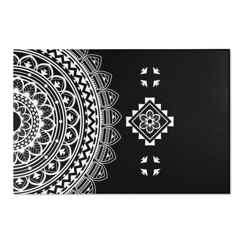 Half Mandala Area Rugs 2x3, 3x5, 4x6-Home Decor-famenxt