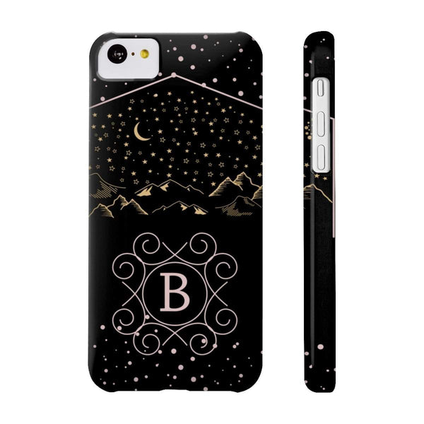 Monogram Collection- Starry Night- Choose your initial B Phone Case-Phone Case-famenxt