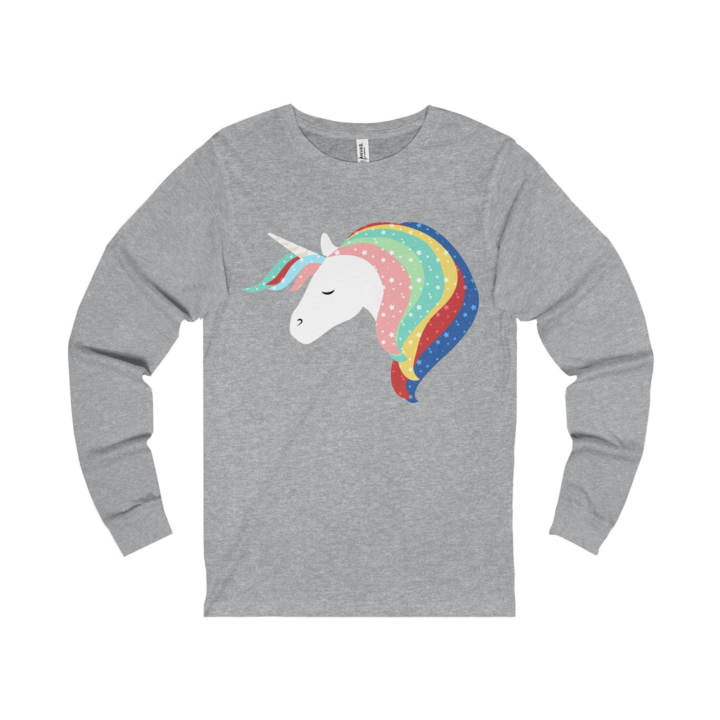 Unicorns are Real Unisex Jersey Long Sleeve Tee-Long-sleeve-famenxt