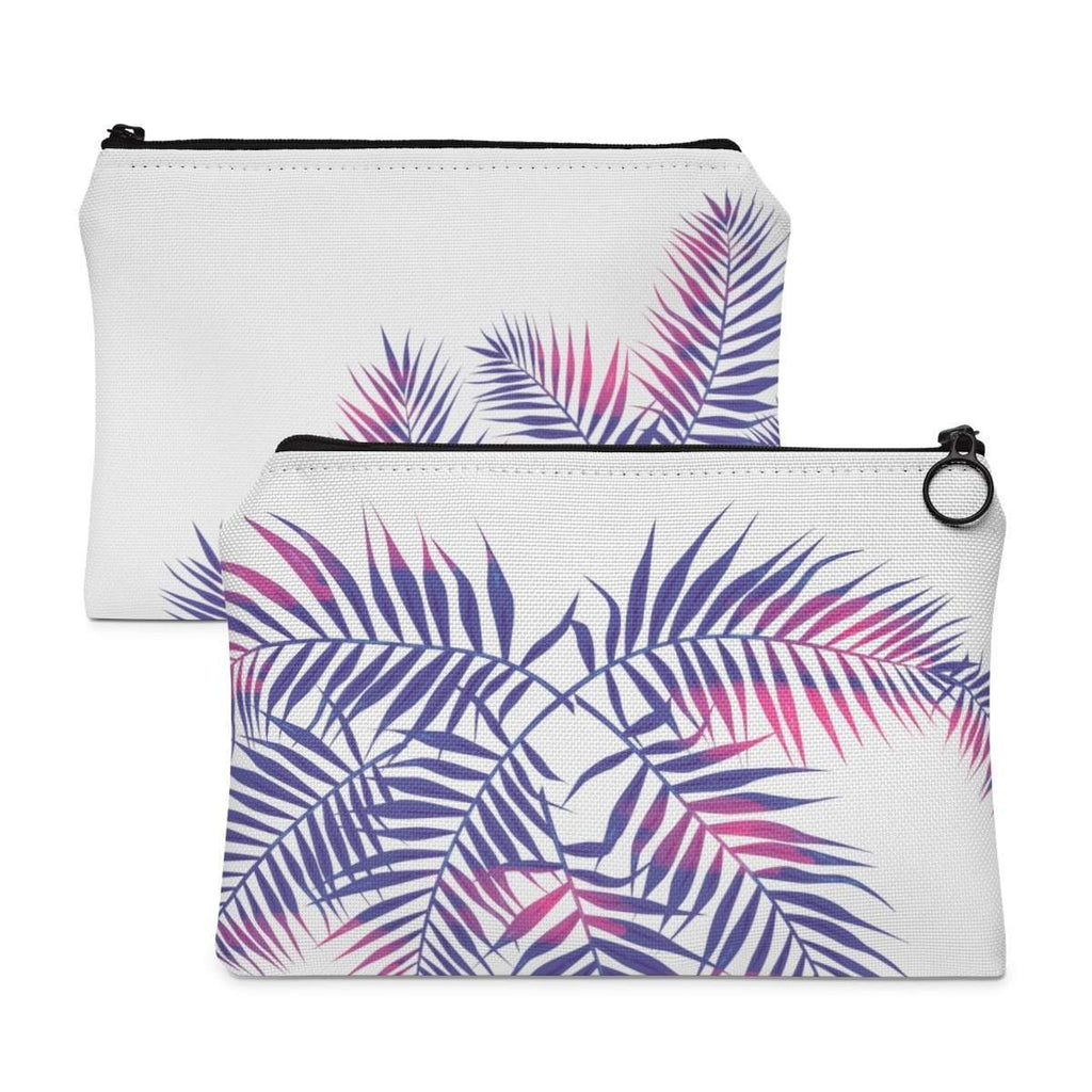 Tropical Palm Leaves Accessory Pouch-accessory pouches-famenxt