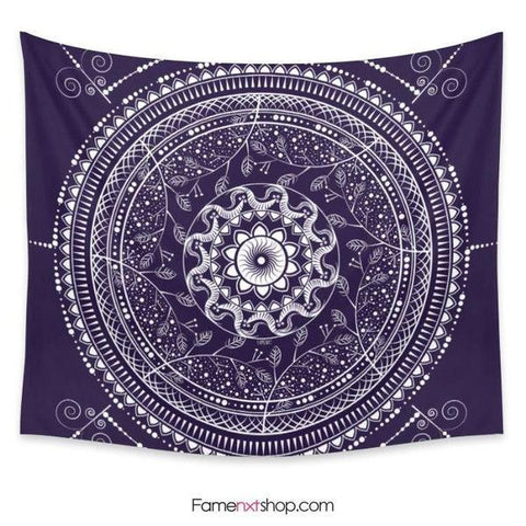 Purple boho Indian mandala Tapestry-Wall Tapestry-famenxt