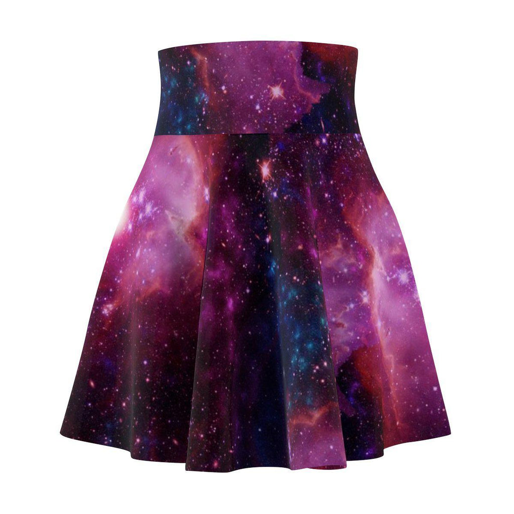 Pink Galaxy Women's Skater Skirt-All Over Prints-famenxt