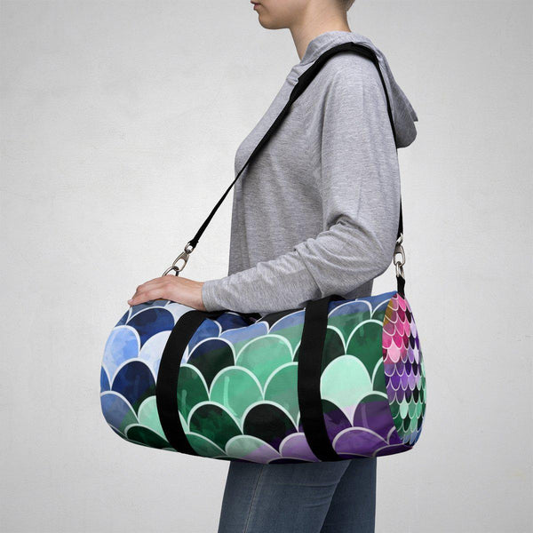 Colorful Mermaid Duffle Bag-Bags-famenxt