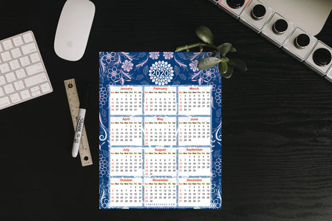2020 A4 Calendar Printable, instant download-Calendar Digital Download-famenxt
