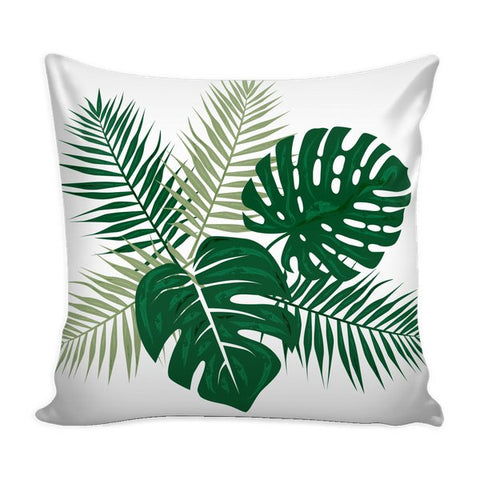 Tropical Palm and Monstera Leaves-Pillows-famenxt