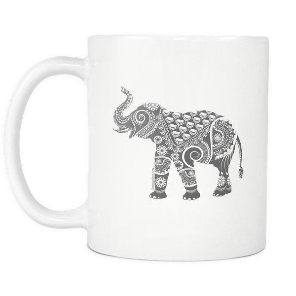 Ornate Indian Elephant Mug-Drinkware-famenxt