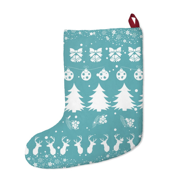 Festive Christmas Vibes Blue Christmas Stocking Double Sided Printed-Home Decor-famenxt
