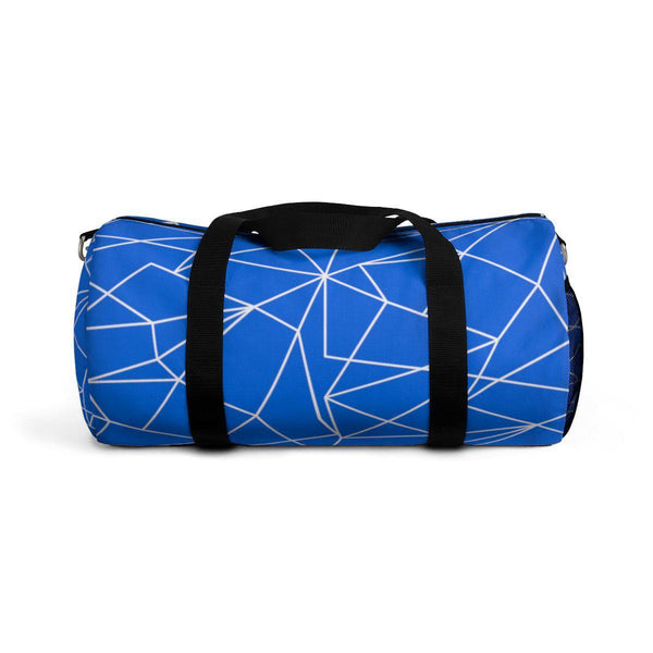 Blue Geometric Abstract Duffle Bag-Bags-famenxt