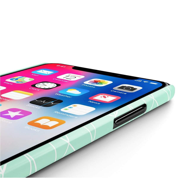 Mint Geometric Slim Phone Cases-Phone Case-famenxt