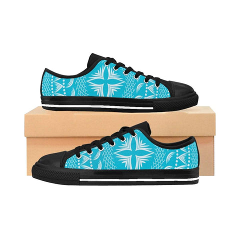 Blue Boho Pattern Women's Sneakers - famenxtshop