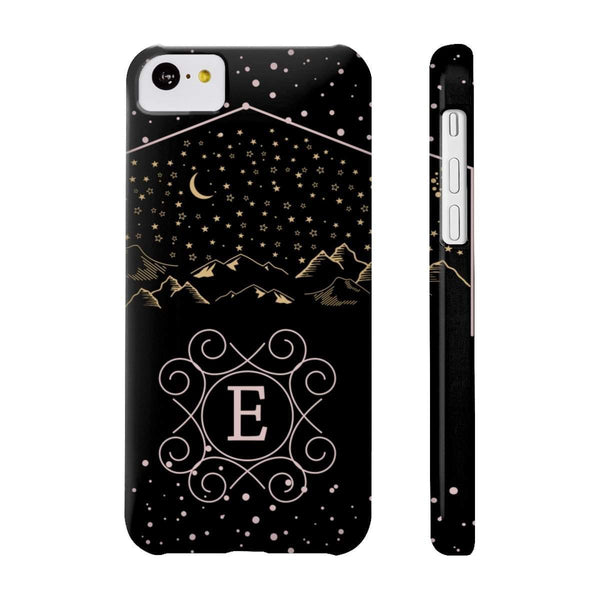 Monogram Collection- Starry Night- Choose your initial E Phone Case-Phone Case-famenxt