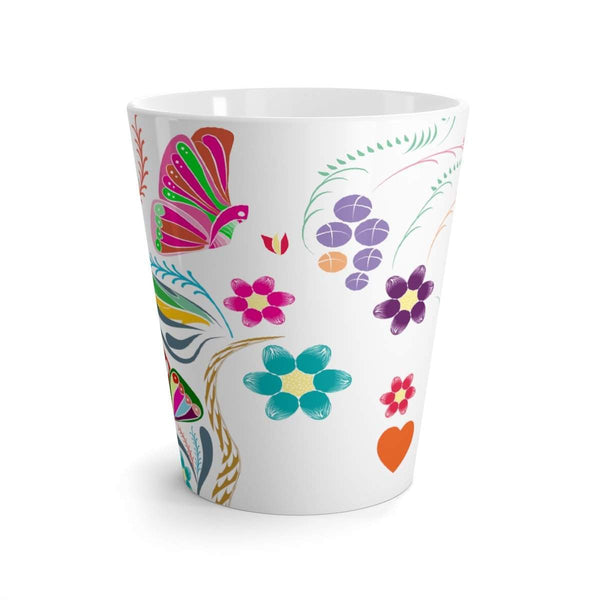 Butterflies and Flowers Latte mug-Mug-famenxt