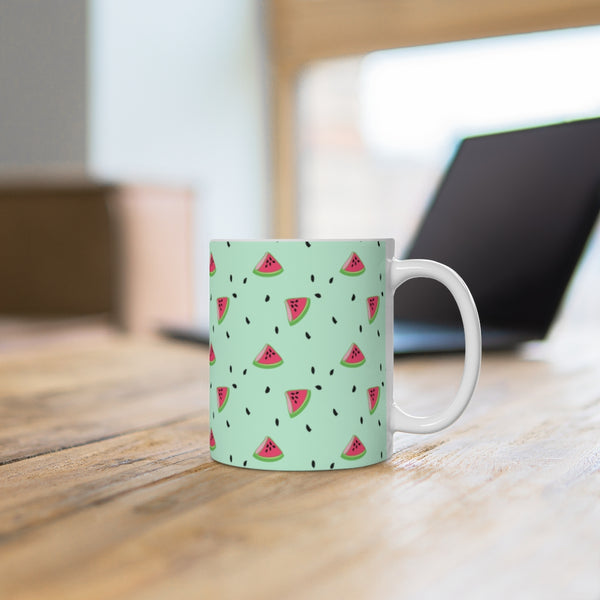 Watermelon mint Mug 11oz-Mug-famenxt