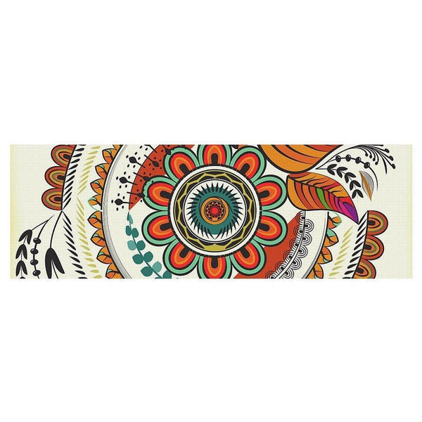 Autumn Warm Colors Mandala - Yoga Mat-Yoga Mat-famenxt