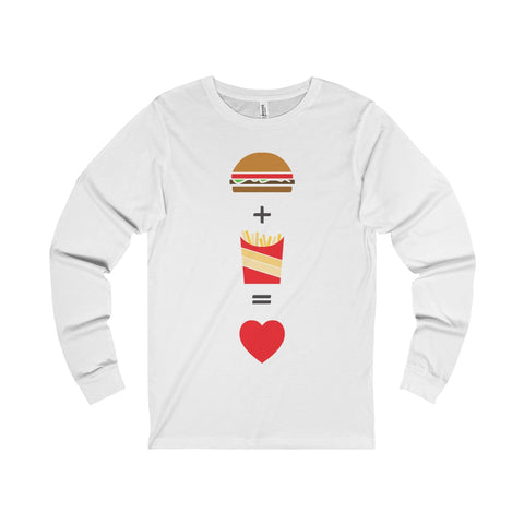 Burger and Fries Unisex Jersey Long Sleeve Tee-Long-sleeve-famenxt
