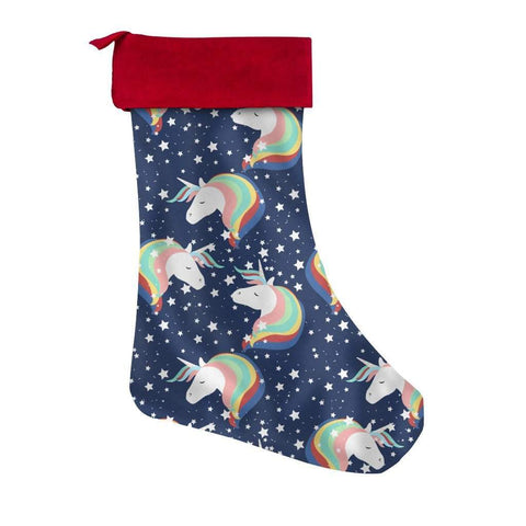 Unicorn Christmas Stocking-Christmas Stockings-famenxt