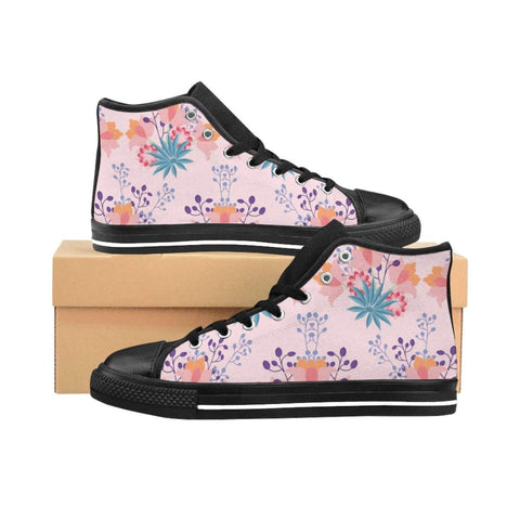 Floral Blossom Women's High-top Sneakers-Shoes-famenxt