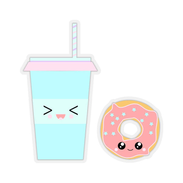 Coffee and Donut Stickers-Paper products-famenxt