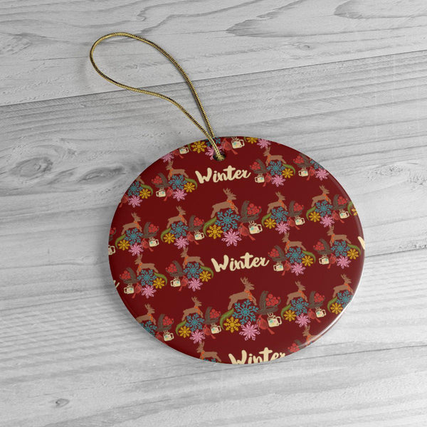 Winter Vibes Ceramic Ornaments in Four Unique Shapes-Home Decor-famenxt