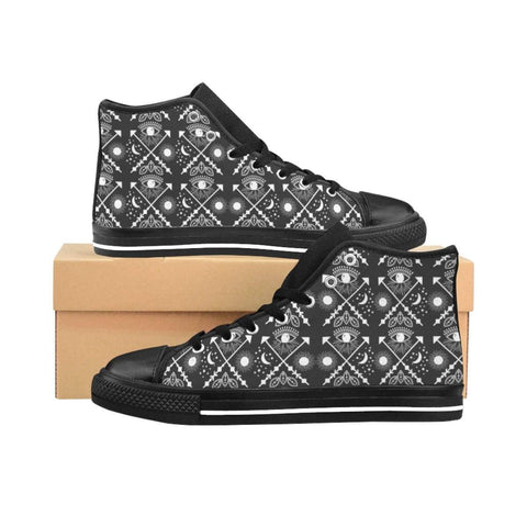 Bohemian Eyes pattern Women's High-top Sneakers - famenxtshop