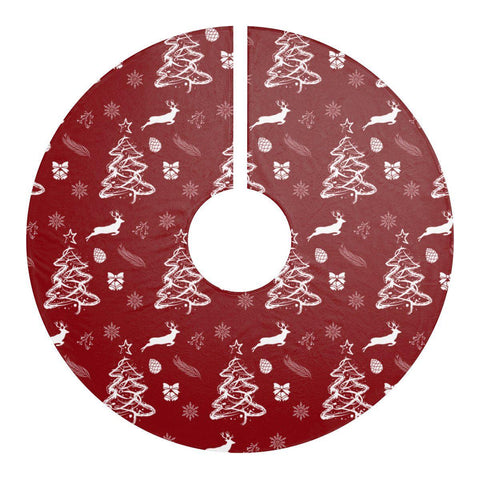"Red Christmas Vibes 44"" Christmas Tree Skirt-Home Decor-famenxt"